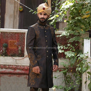 Printed Pakistani Sherwani for Groom online 2021 Front Look