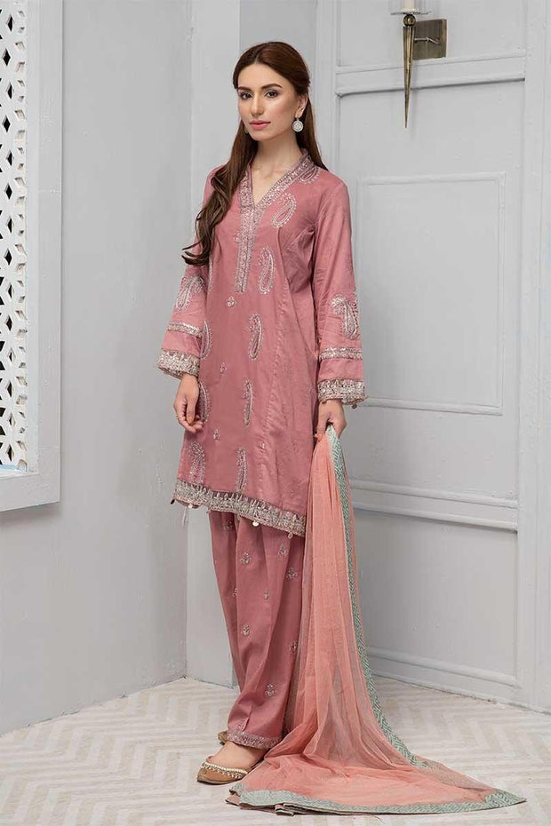 Elegant punjabi traditional dress in beautiful tea pink color # P2245