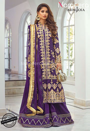 Purple Party Dress for Wedding with Embroidery