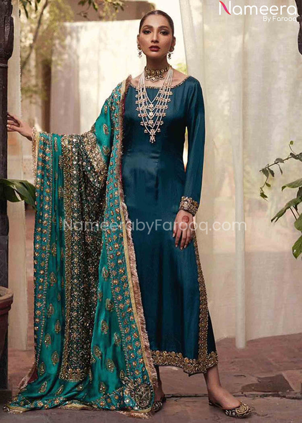 Raw Silk Dresses Pakistani