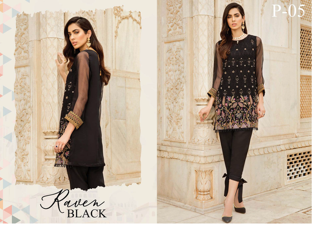 Ready to wear Elegant Raven Black 2