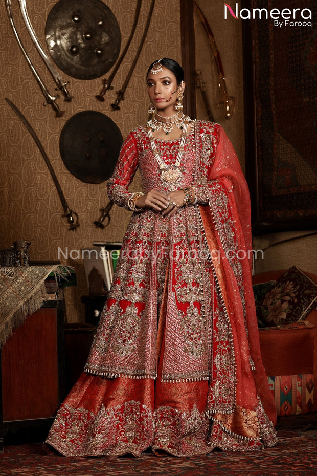 Red Bridal Dress Pakistani