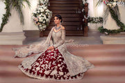 Red Lehenga with Open Shirt Bridal Dress Online