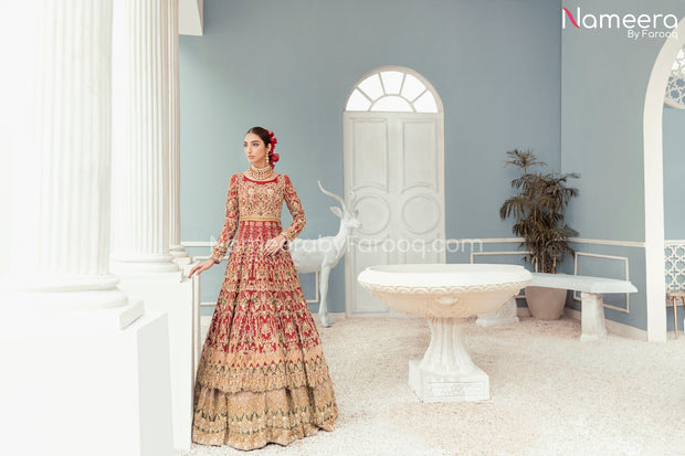 Red Wedding Dress Pakistani