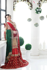 Red and Golden Dress Pakistani
