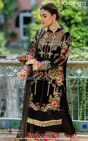 Royal Black Salwar Kameez for Wedding Party Wear
