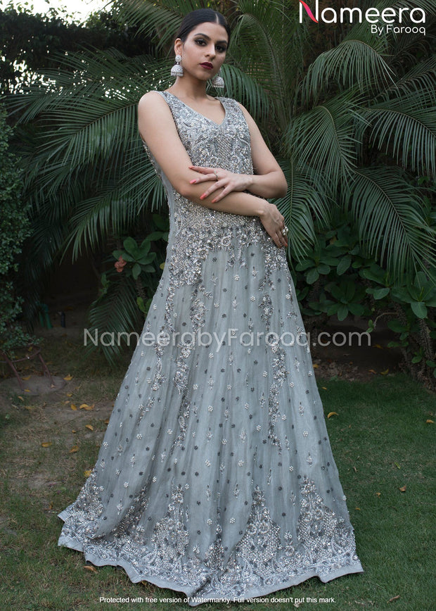 Royal Pakistani Gown Dresses for Wedding Wear