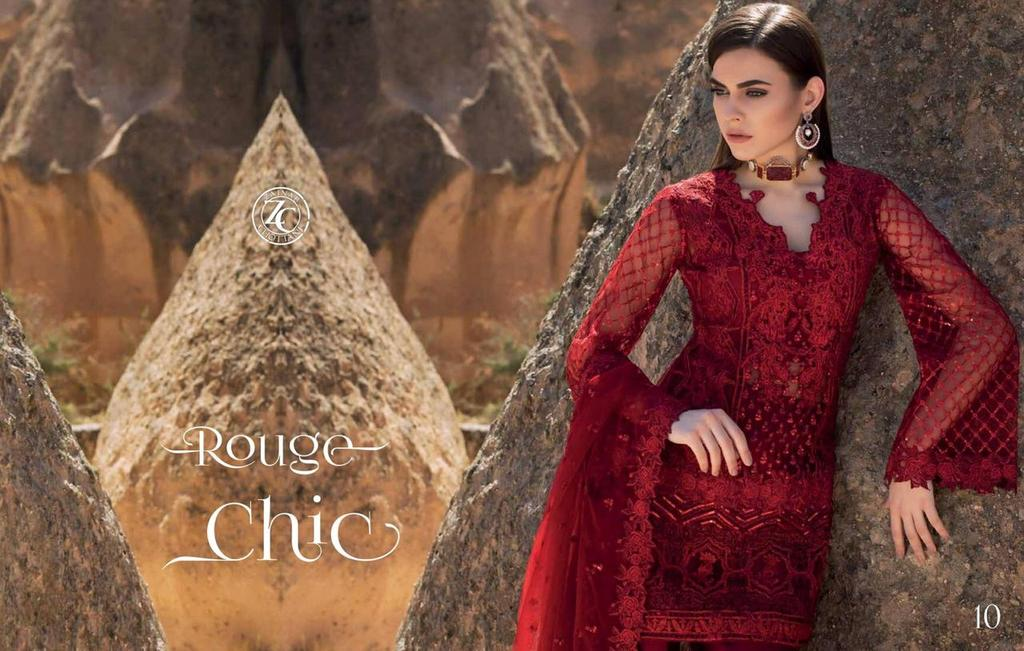 8514a9bb98 Royal Style Reddish Maroon Pakistani Designer Attire | Embroidered ...