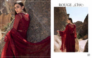 Royal Style Reddish Maroon Pakistani Designer Attire  Embroidered