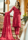 Beautiful thread and sequins embroidered dress in red color