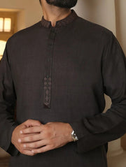 Shalwar kameez mens in charcoal grey colour 1