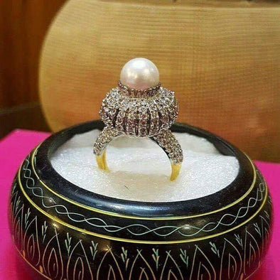 Silver Plated Precious Stone Ring