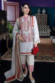 Pakistani designer slub outfit for casual wear in cloud grey color