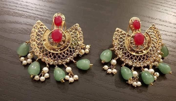 Stylish Gold Plated Earrings