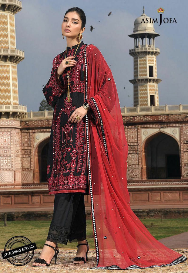 Stylish Lawn Eid Dress by Asim Jofa