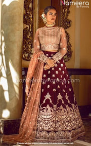 Thread Embroidered Pakistani Lehenga Party Wear