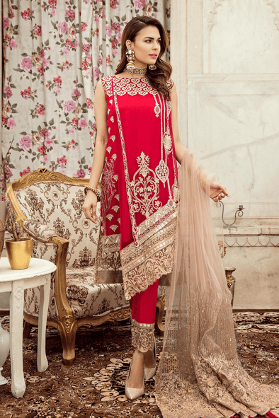 Traditional Indian Dress in fresh red color