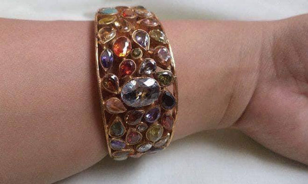 Traditional Multi Kundan Kara for Women