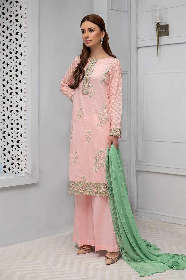 Traditional Eid dress Pakistani in lavish peach color # P2230