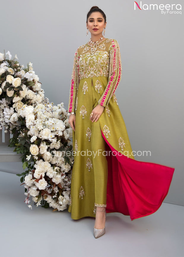 Trendy Pakistani Gown for Wedding Party Wear