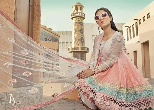 Trendy Pakistani Short Full Flair Lawn Designer Frock
