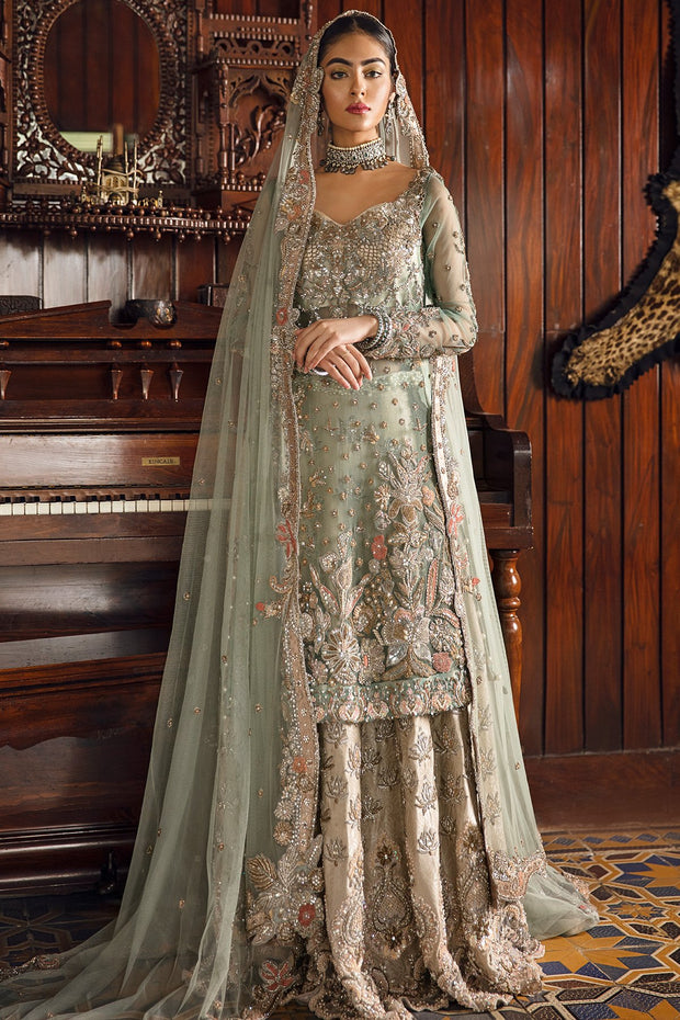 Walima Wedding Outfit with Embroidery
