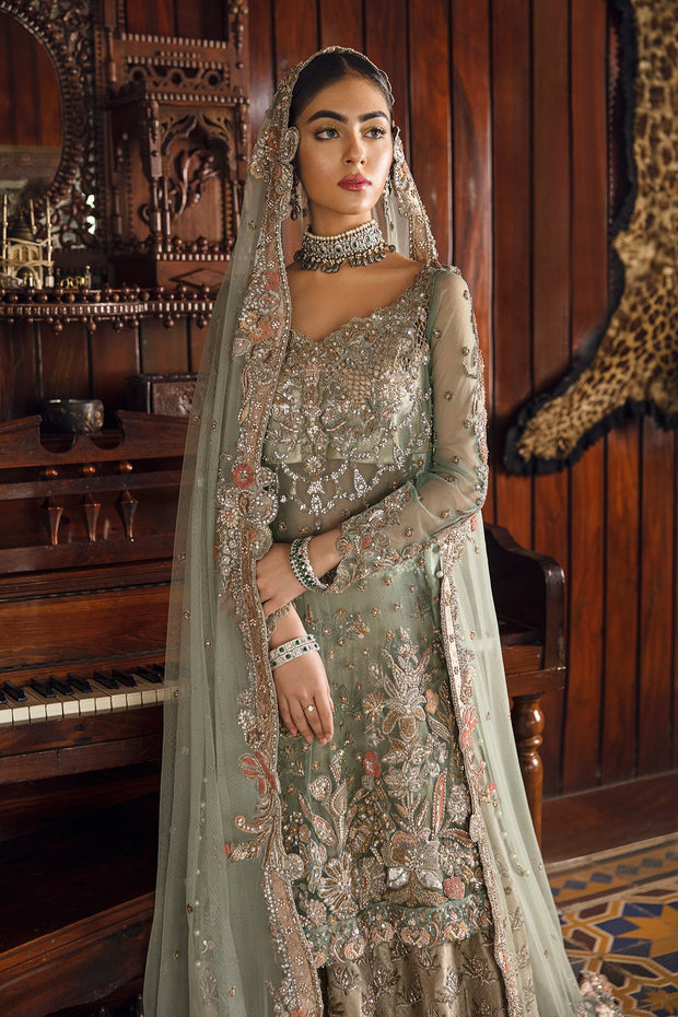 Walima Wedding Outfit with Embroidery Close Look