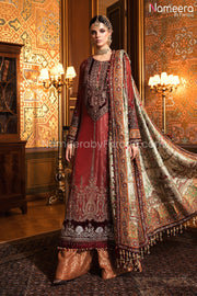 Wedding Party Dress Pakistani with Embroidery Dress Look