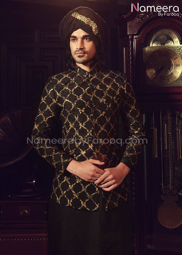Wedding Sherwani for Groom with Embroidery Online