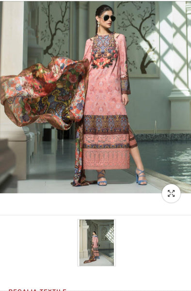 Lawn dress by honey waqar L Model# L 1527