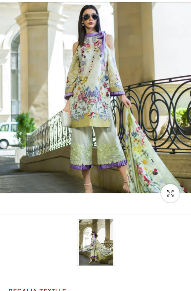 Lawn dress by honey waqar Model# L 1529