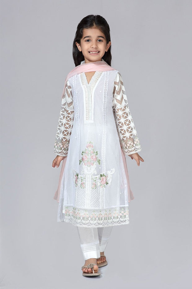 White Eid Dress for Kids