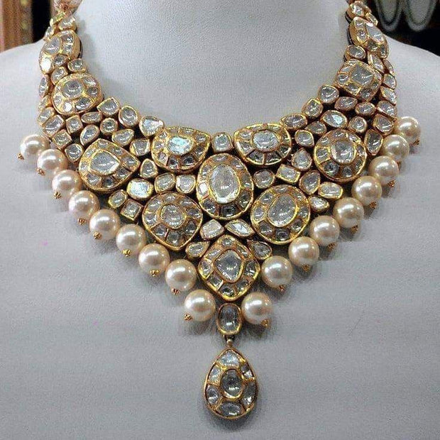 White Stones Kundan Necklace