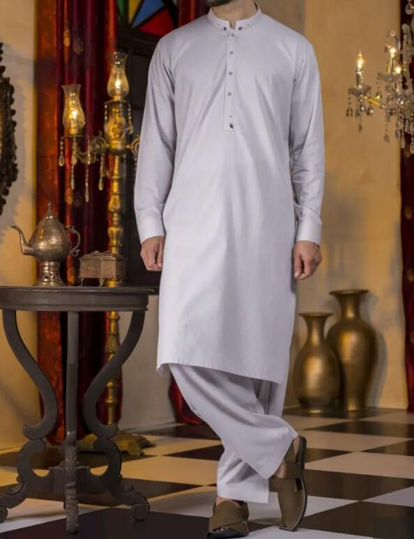 Elegant Polyester Viscose Men Formal Shalwar Kameez 2019