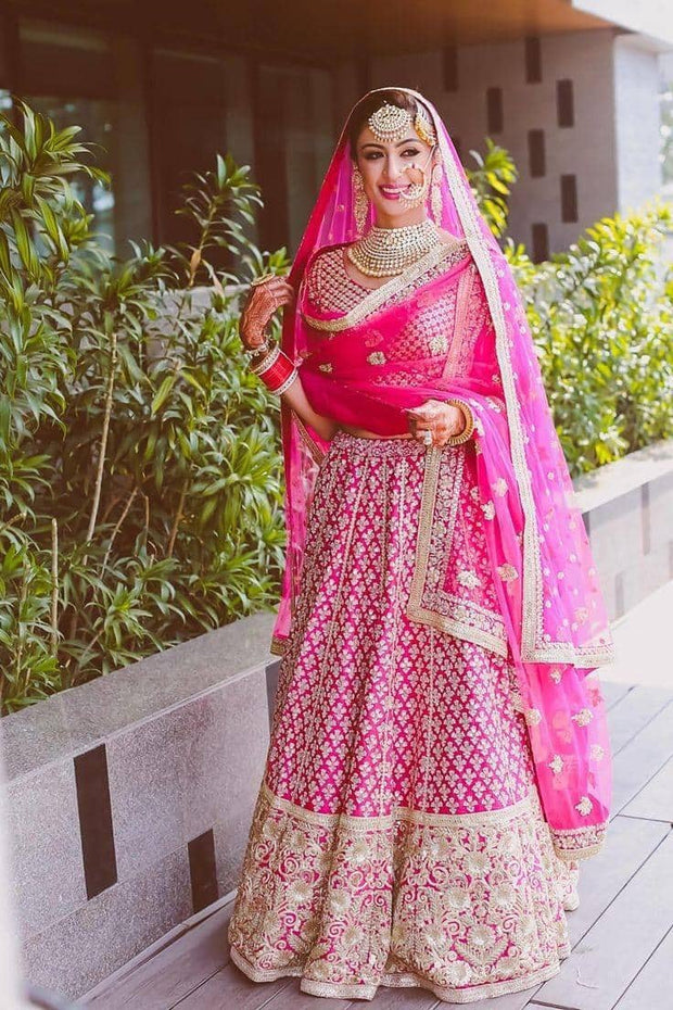Indian Stunning pink Full flare Lehenga Choli