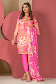 Latest Summer Pakistani casual printed lawn outfit in pink color # P2506