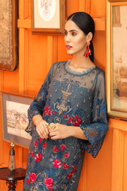 Pretty Pakistani dress of Chiffon for Parties 1