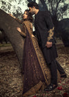 Beautiful asian designer bridal and groom dress in plum color # B3340