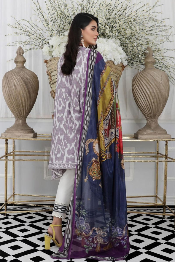 Pakistani designer woven dress for casual wear in grey color # P2387