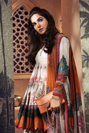 Elegant Pakistani designer khaddar dress in off-white color # P2359