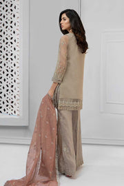 Elegant designer suit pakistani in lavish beige color # P2227