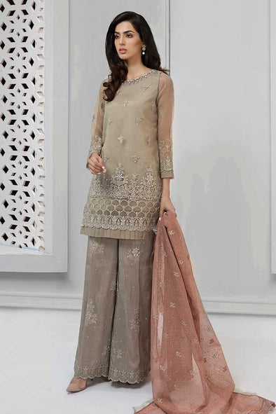 Elegant designer suit pakistani in lavish beige color