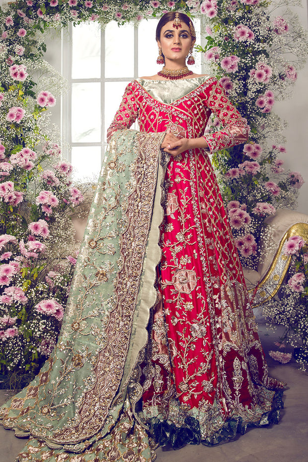 Latest beautiful designer Indian wedding outfit in Fushia Pink color B3455