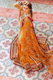 embellished Pakistani gharara and shirt