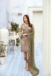 Embroidered Chiffon Outfits 2020
