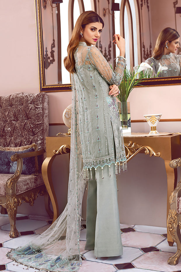 Pakistani designer embroidered net dress for party wear # P2337
