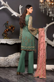 Formal Wear Womens In Green Colour
