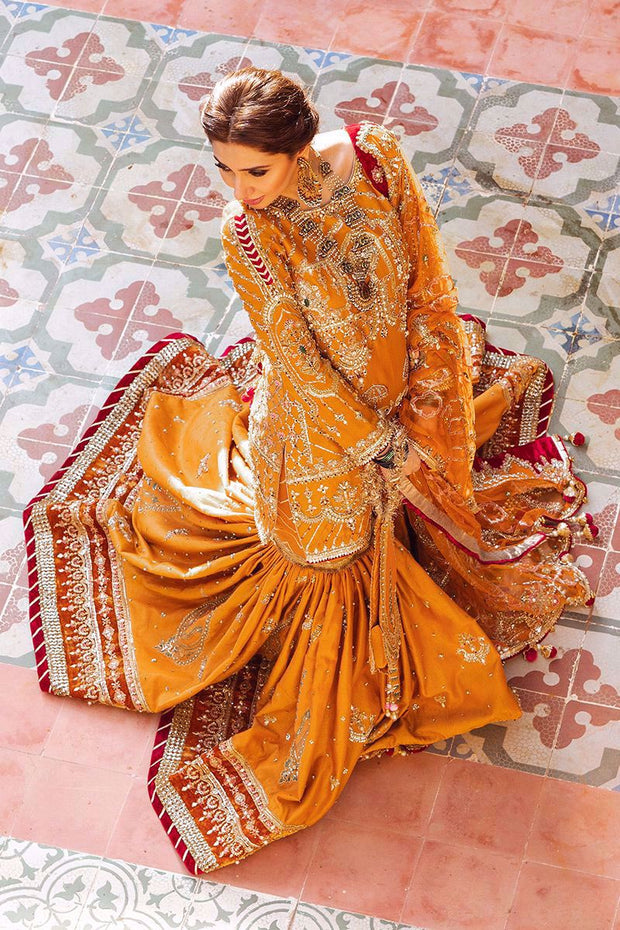 gharara with knee length shirt