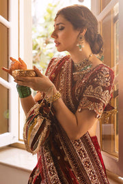 hand embroidered bridal wear