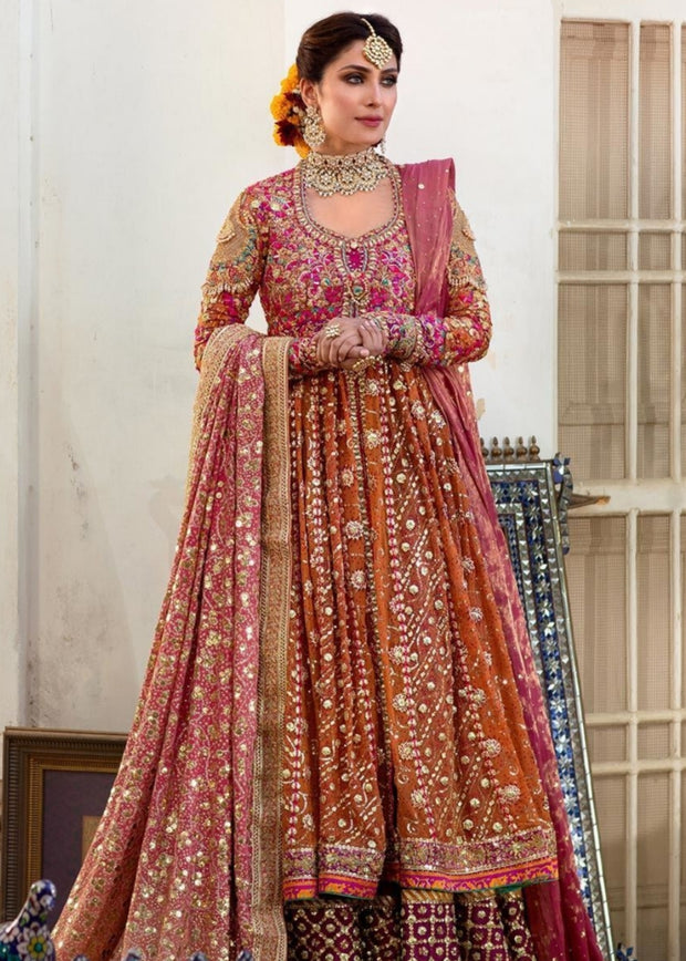 Kalidaar Heavy Embroidered Bridal Lehenga